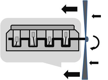 Figura 10- Exemplo esquemático de um motor à pista. Fonte: Autor, baseado na NASA, Small Aircraft, 2004.